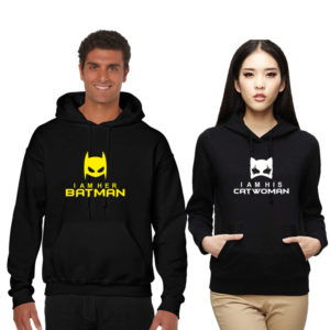 c228d2ab19 Batman Men's Sweatshirt batman-catwoman-couple-sweatshirt-black