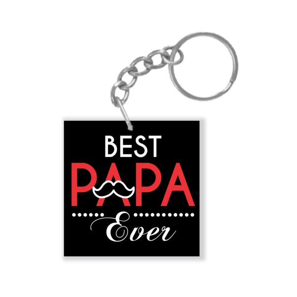 Best Papa Ever Keychain Keyring