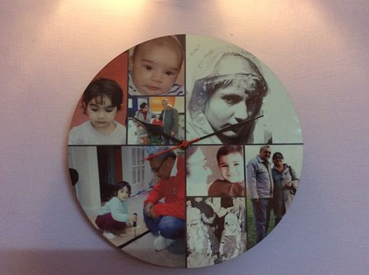 personalized photo collage wall clock by giftsmate