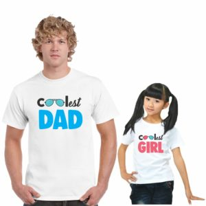 coolest dad and girl_family tshirt(white)