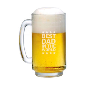 Engraved Best Dad in the World Beer Mug