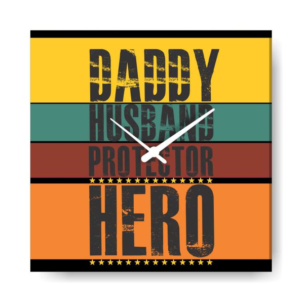 Daddy Husband Protector Hero Wall Clock from Wife