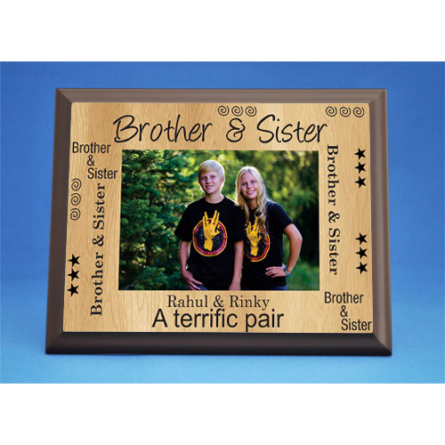 Personalized Brother And Sister Photo Plaque