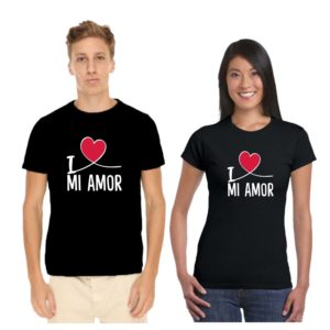 I Love Mi Amor Couple T-shirt