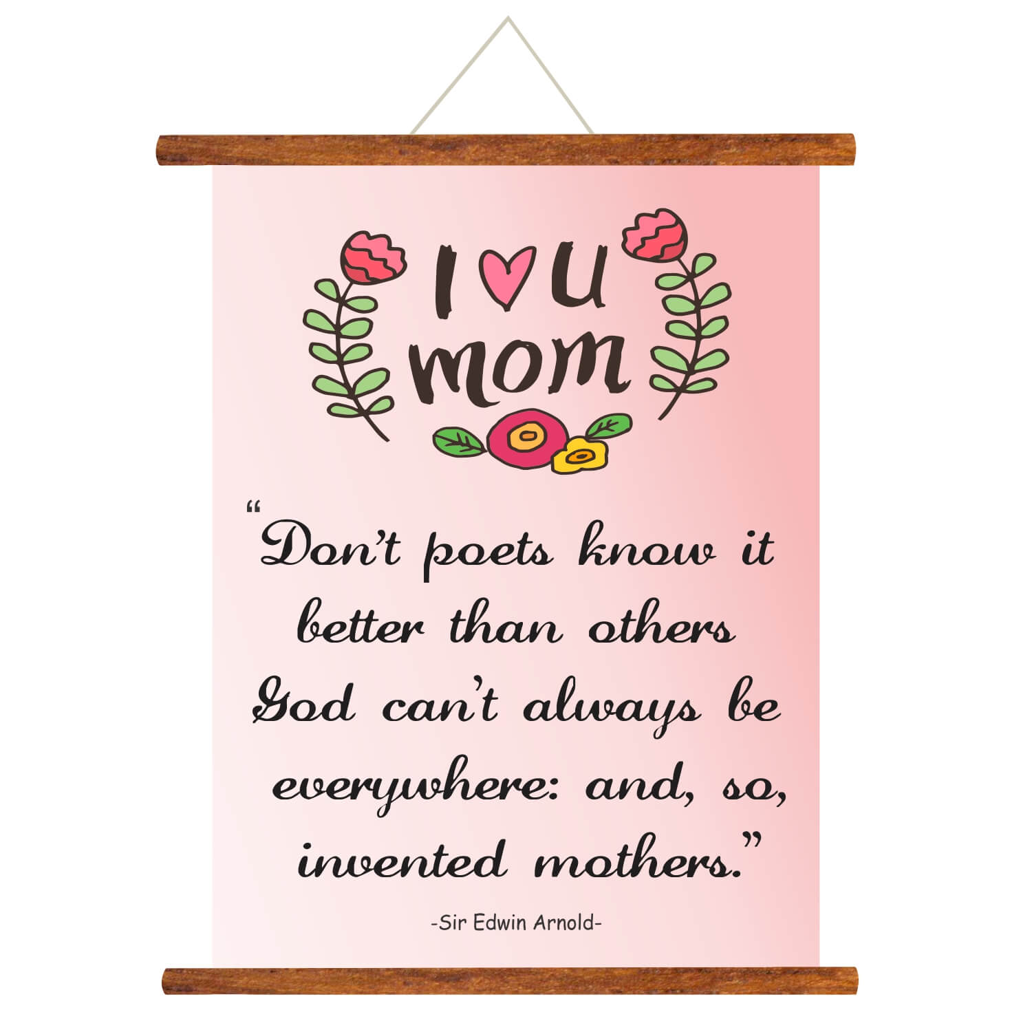 Wondrous I Love You Mom Scroll Greeting Card Birthday Ts For Mother Personalised Birthday Cards Veneteletsinfo