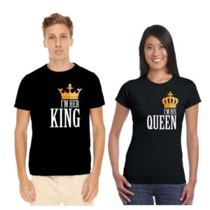 i m her king and queen couple tshirt