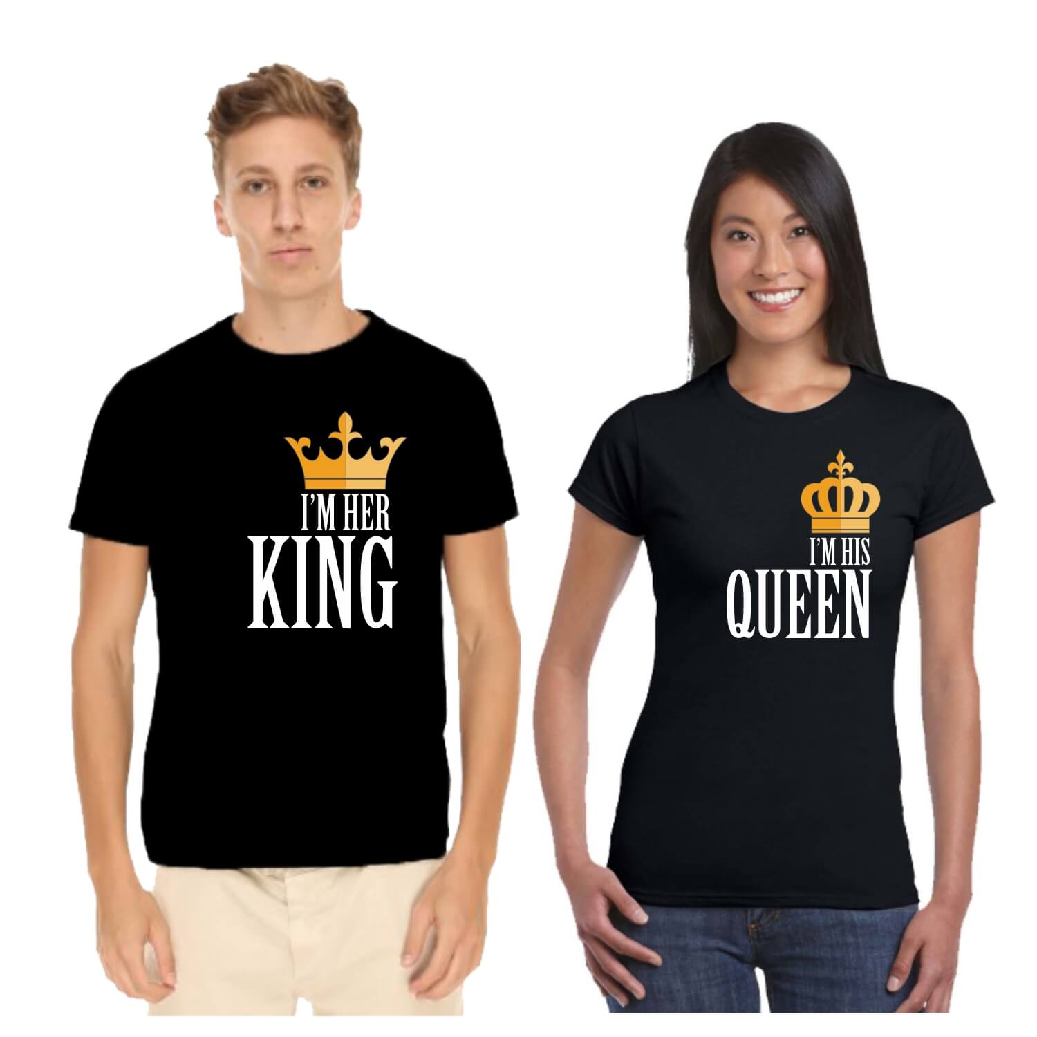 33e0cb848 I'M His Her King Queen Couple T-shirt for Valentine Day | Giftsmate