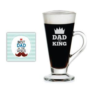 Dad The King Engraved Tea Mug