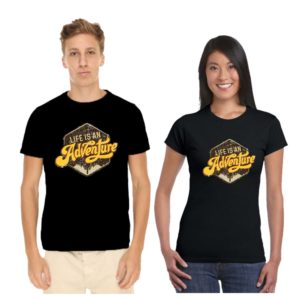life is an adventure couple tshirt