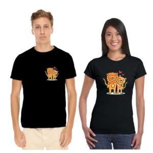 lion and lioness tshirt