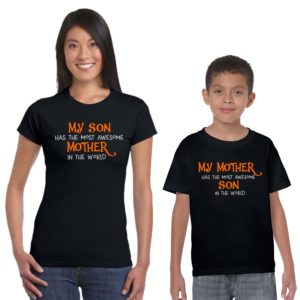 my awesome mother son tshirt black