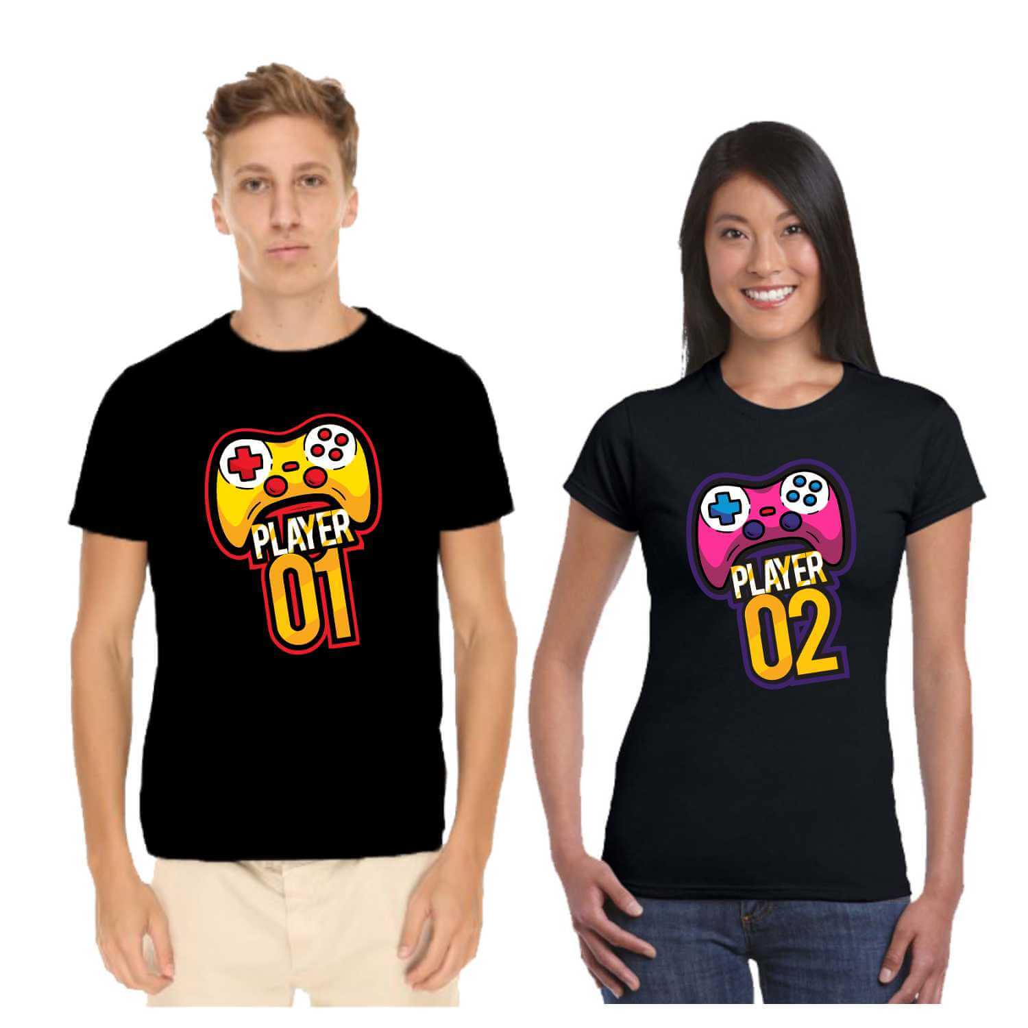 228da6b299 Player 1 Player 2 Couple T-shirt for Valentines Day   Giftsmate