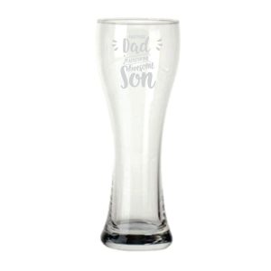 Proud Dad of a Freaking Awesome Son Beer Pilsner Glass