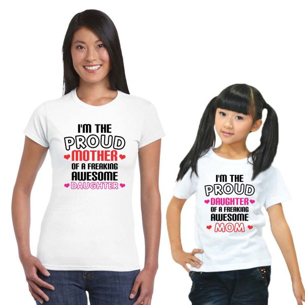 mother daughter matching t-shirts