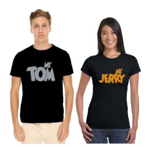 tom and jerry couple tshirt