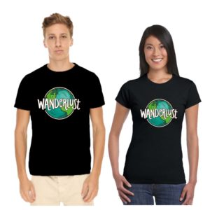 wanderlust couple tshirt