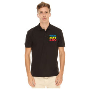 Colorful World's Best Bro Polo T-shirt