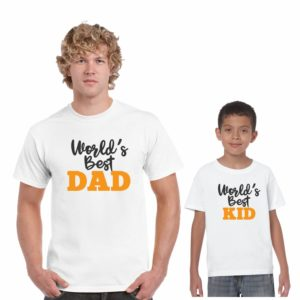 worlds best dad and Kid family tshirt_White_1
