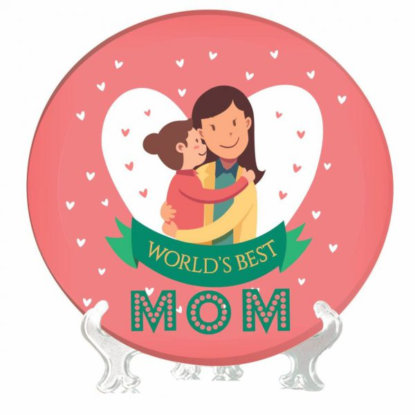 Worlds Best Mom Decorative Plate from Daughter