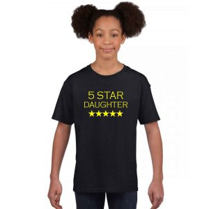 5-Star-Daughter-Family-Tshirt-black