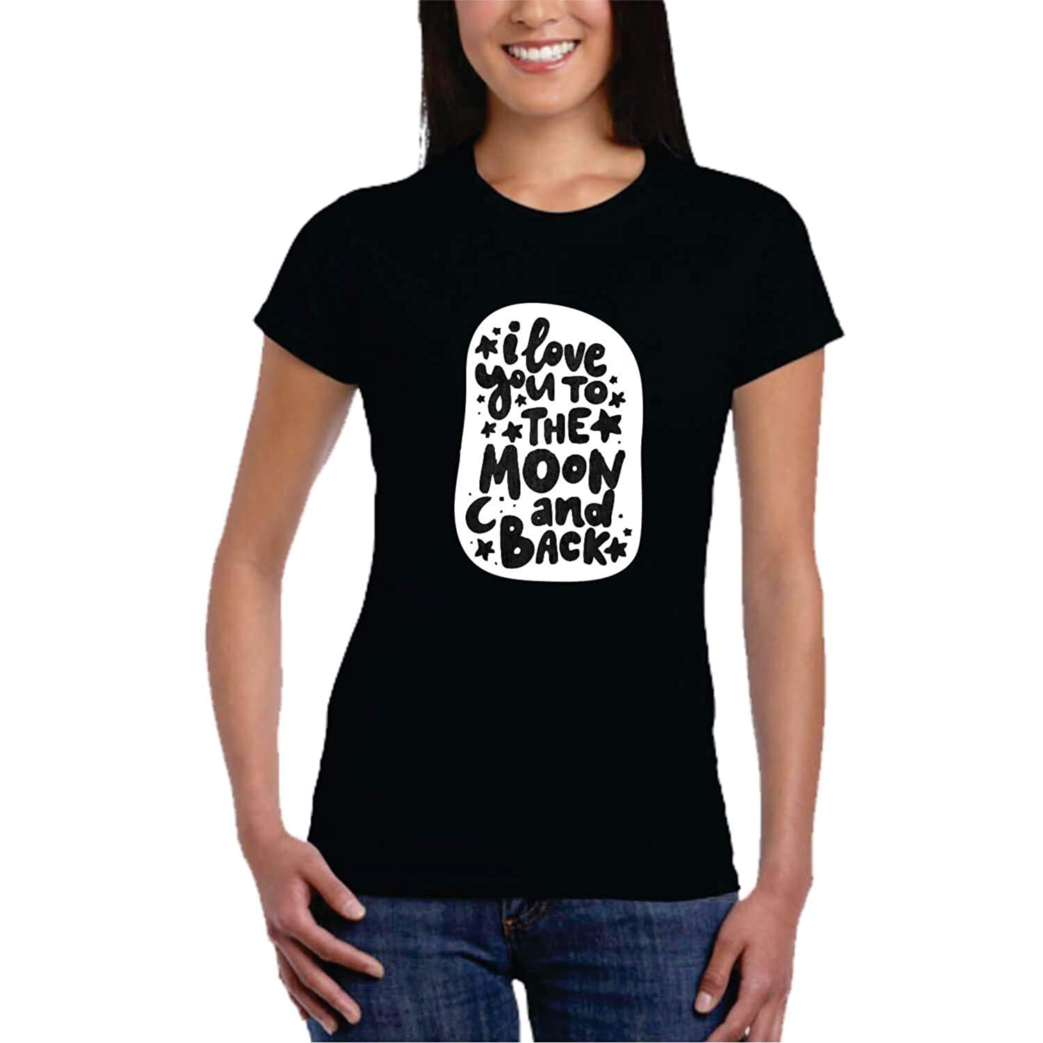 f6b08607ea Love You to the Moon and Back Couple T-shirt | Giftsmate