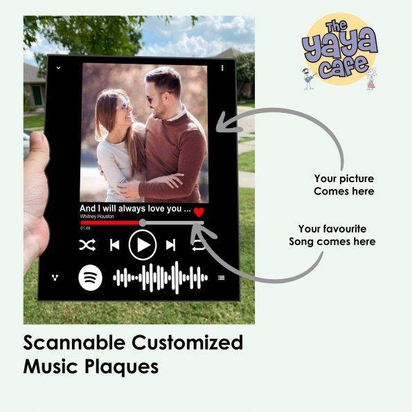 personalized spotify music plaque